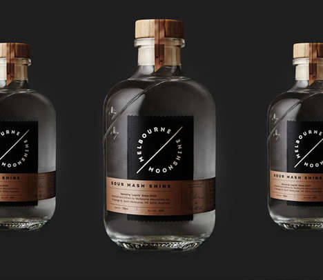 Prohibition Booze Branding - The 'Melbourne Moonshine' Spirit Bottle Embraces Bootlegging History