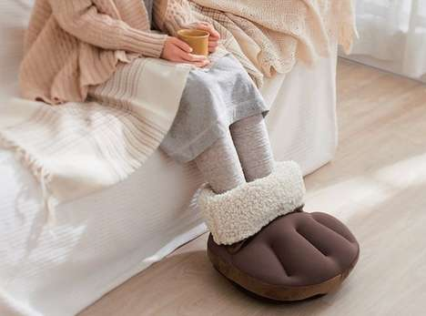 Multi-Layer Feet Warmers - The Eco Poka Cushion Provides Warmth to Chilly Extremities