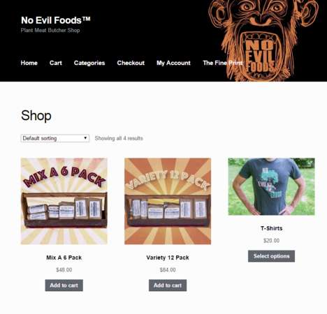Online Vegan Butchers - No Evil Foods' Web Butcher Shop Sells Mock Meat in Bulk