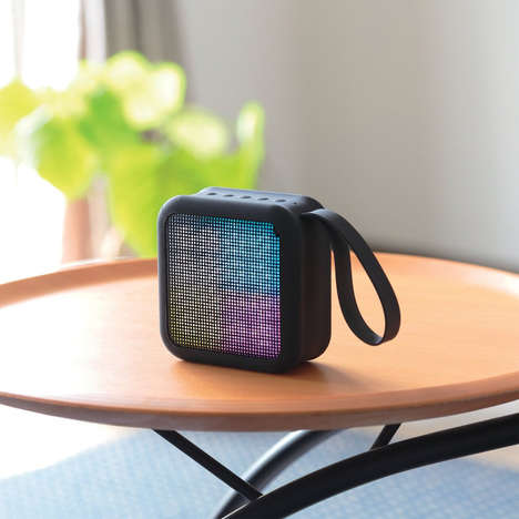 Visual Feedback Speakers - The Elecom Shining Bluetooth LED Speaker Reacts to Musical Sounds