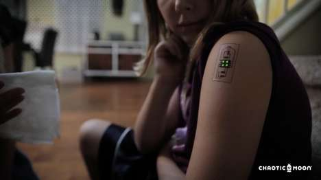 Temporary Biometric Tattoos - Software Design Firm Chaotic Moon Experiments with Temporary Wearables