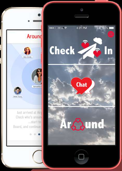 In-Flight Dating Apps - The AirDates Apps Allows You To Converse With Fellow Airplane Passengers