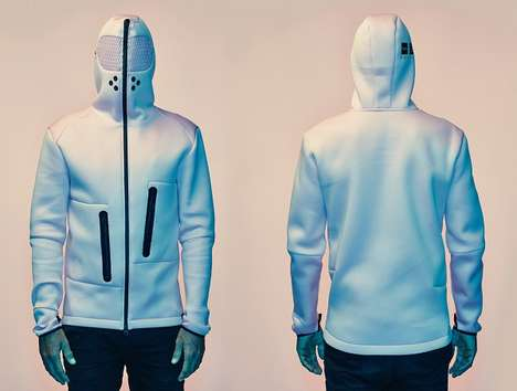 Calming Athletic Gear - This Hoodie for Relaxing Helps Athletes Feel More Tranquil After Competing