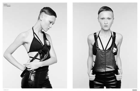Candid Punk Editorials - The Ones 2 Watch 'Mrs Wolf' Series Highlights Leather-Made Fashions