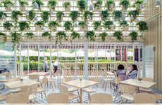 Airy Greenhouse Cafes - This Converted Greenhouse Cafe in Beijing Was Designed by Four O Nine