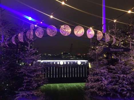 Lunar Christmas Lookouts - This Moon-Gazing Station Ties in with John Lewis' Christmas Advert