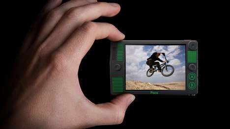 Multimedia-Playing Cameras - The Poco Combines An Actioncam, Multimedia Player and Gaming Machine