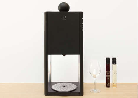 Tabletop Wine-Tasting Machines - This Device Automatically Aerates Individual Glasses of Wine