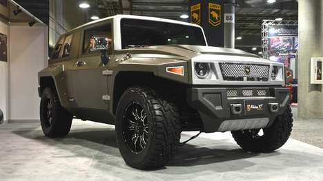 All-Terrain SUVs - The Rhino XT Was Created From a Redeveloped Jeep Wrangler
