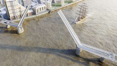 Hybrid Pedestrian Bridges - The Rotherhithe Bridge Will Be the World's Longest Drawbridge