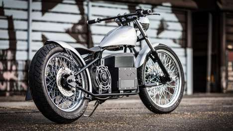 Electric Chopper Motorbikes - The Sine Cycles Electric Chopper Looks and Rides Like a Dream