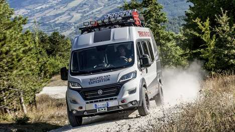 Super-Capacity Camper Vans - The 4x4 Ducato Expedition Camper Show Van Has Extensive Storage Space