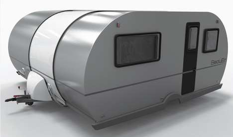 Telescopic Camping Trailers - The Beauer 3X's Telescopic Shape Allows For Ample Storage