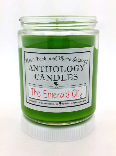 Fictional Castle-Fragranced Candles - The Green Candle Represents the Bold Color of The Emerald City