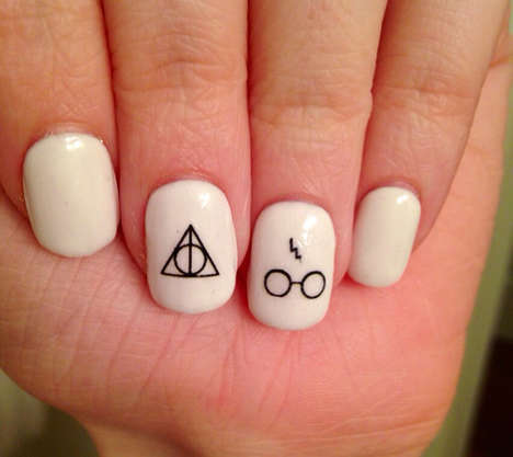 Magical Nail Stickers - This Harry Potter-Inspired Fingernail Decals Feature Minimalist Symbols