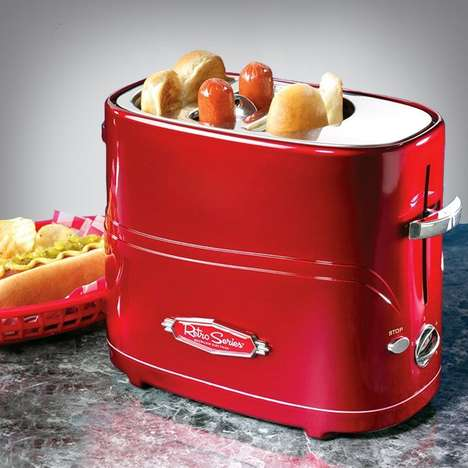 Hot Dog Toasters - This Retro Kitchen Appliance is For Making Street Food All Year Round
