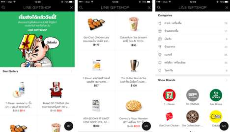 Gift Shop App Features - Asian Line App Users Can Send Real Gifts to Each Other Via a Digital Store