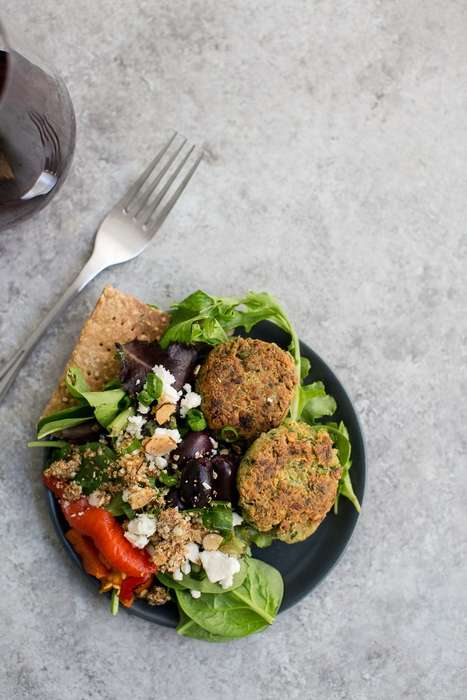 Superfood Falafel Patties - This Middle Eastern Pita Dish is Made Using Quinoa for Added Protein