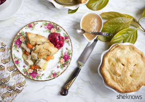 Single-Serve Turkey Pies - These Homemade Holiday Pastries are Filled with Healthy Meat and Veggies
