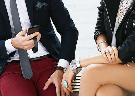 Bracelet Smartphone Chargers - The QBracelet is a Fashionable Tech Wearable Silicone Wristband