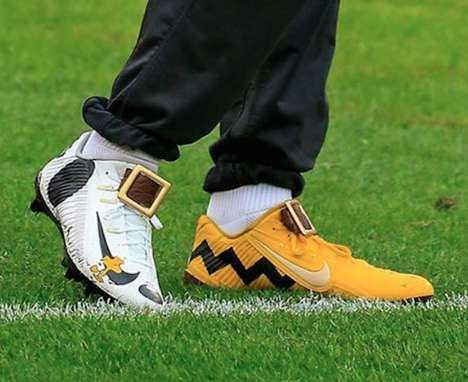 Celebratory Cartoon Cleats - These Sport Sneakers Celebrate the Peanuts Comic Strip Characters