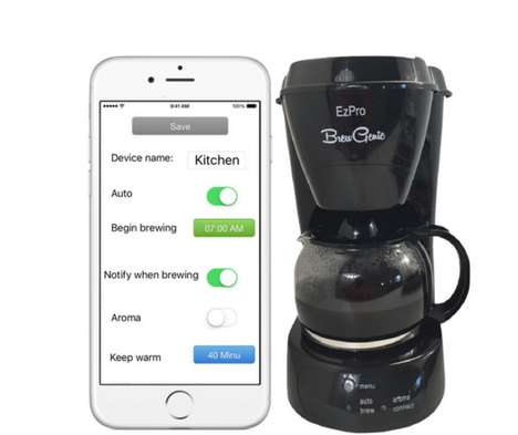 Phone-Connected Coffee Makers - The Fantel BrewGenie Machine Can Brew Coffee Using Your Smartphone