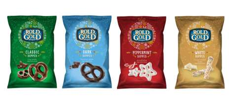 Flavored Holiday Pretzels - The Rold Gold Pretzel Flavors Offer Festive-Themed Seasonings