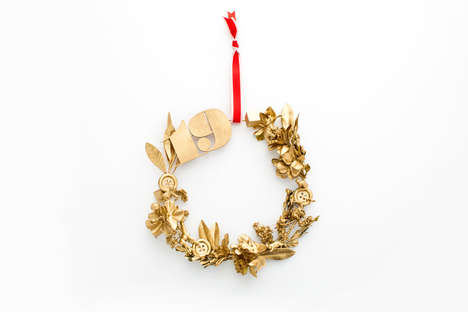 Eclectic Knick-Knack Wreathes - These Holiday Door Decorations are Made Using Random Objects