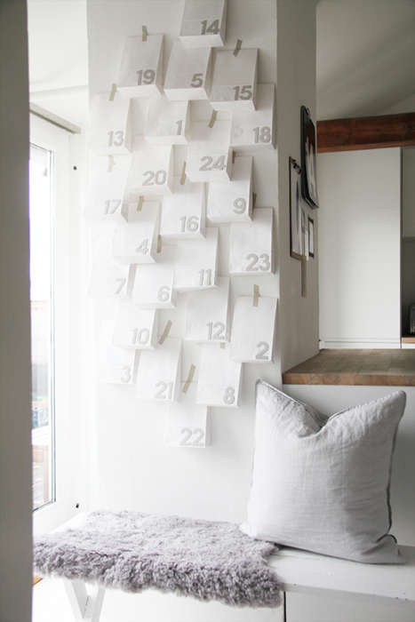 Minimalist Christmas Countdowns - This Cute Advent Calendar Craft is a Festive Use of Paper Bags