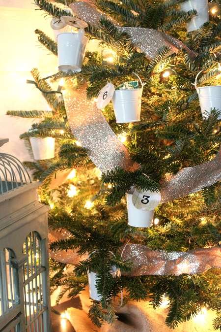 Ornamental Bucket Countdowns - This DIY Christmas Tree Advent Calendar Combines Holiday Traditions