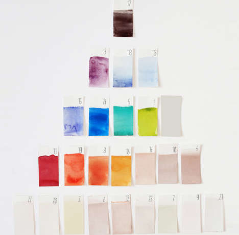 Hand-Painted Advent Calendars - This DIY Watercolor Calendar Can Be Made Any Time of the Year