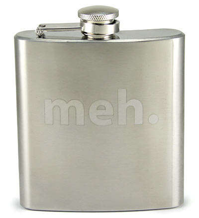 Indifferent Alcoholic Containers - This Stainless Steel Hip Flask is For Those Who Feel Medium