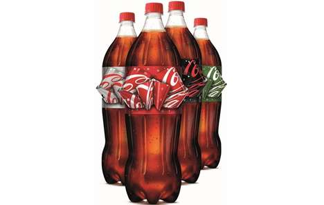 Bow-Shaped Soda Labels - This Festive Coca-Cola Label Transforms into a Decorative Bow