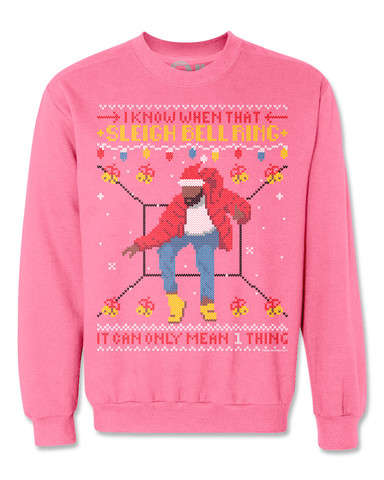 Chart Topper Christmas Sweaters - The Hotline Sleigh Bell Ring Sweater Pays Homage to Hotline Bling