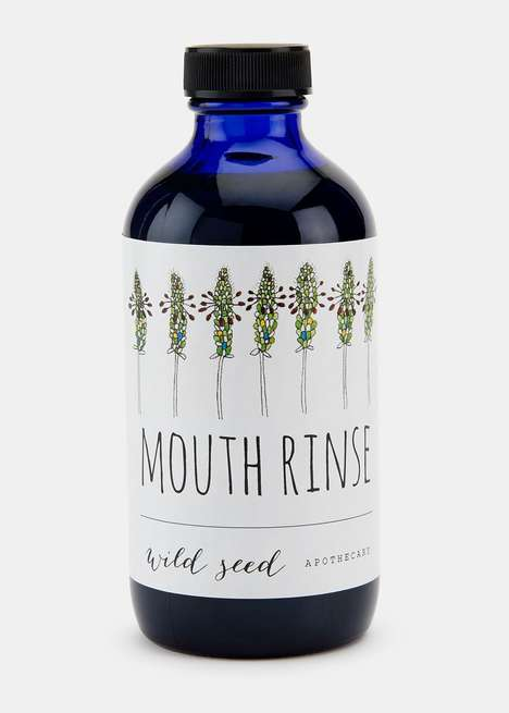 Organic Mouth Wash Toiletries - Wild Seed Apothecary's Mouth Rinse Features No Artificial Additives
