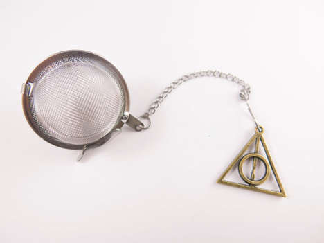 Charming Tea Infusers - This Harry Potter Mesh Tea Strainer Features a Deathly Hallows Charm