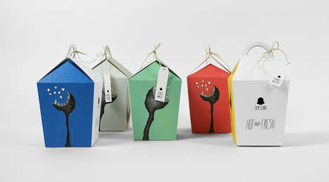 Monstrous Popcorn Packaging - These Popcorn Containers Feature Illustrated Beast Graphics