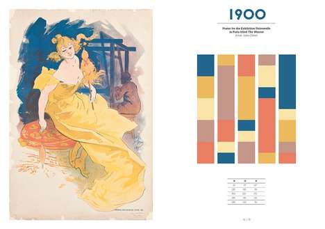 Historical Coloring Books - This Book Depicts Popular Color Palettes from the Past Century