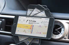 Magnetic Handsfree Phone Docks - The Jebsen Magnetic Car Mount Requires No Installation to Operate