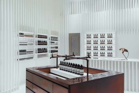Whiteout Theatrical Spa Shops - The Aesop Kuala Lumpur Store is the Brand's Fourth in the City