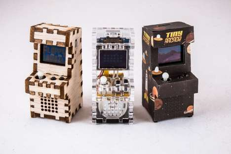 Minuscule Arcade Games - The Tiny Arcade Set Lets Gamers Play Retro Entertainment Systems at Home