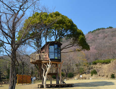 Whimsical Tiered Treehouses - Takashi Kobayashi Creates Tree Playhouses That Are Fully Livable