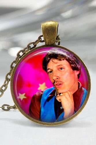 Glamor Shot Pendants - This Bronze and Glass Necklace Features Uncle Rico From Napoleon Dynamite