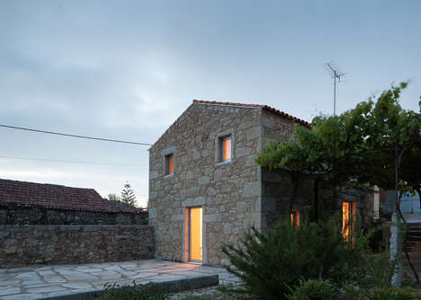 Compact Stone Residences - This Stone-Walled Home is Located Insided a Converted Barn