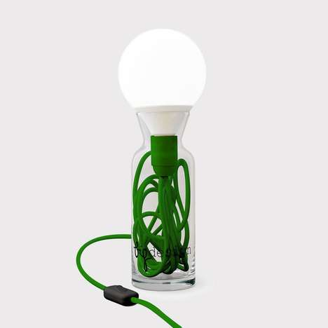 Upcycled Lighting Solutions - The BIG DESIGN Pulse Table Lamp is an Eco-Friendly Light with a Twist