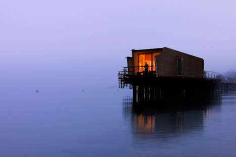 Floating Swiss Hotels - This Stunning Lakeside Hotel is Built on Stilts