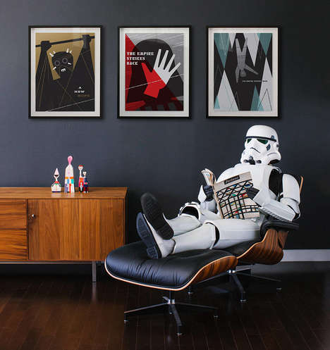 Contemporary Sci-Fi Graphics - These Posters Offer a Modern Interpretation of the Star Wars Series