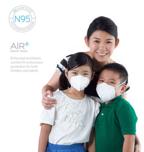 Intuitive Pollution Masks - The Air+ Smart Mask Respirator Would Help the Wearer to Breathe Better