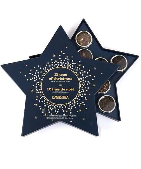 Star-Shaped Tea Sets - This Tea Gift Set Provides a Sample of the '12 Teas of Christmas'
