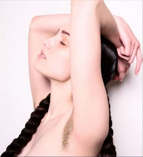 Glittered Armpit Hair - Katrina Molson Has Glittered Her Armpits for a Bizarre Beauty Movement